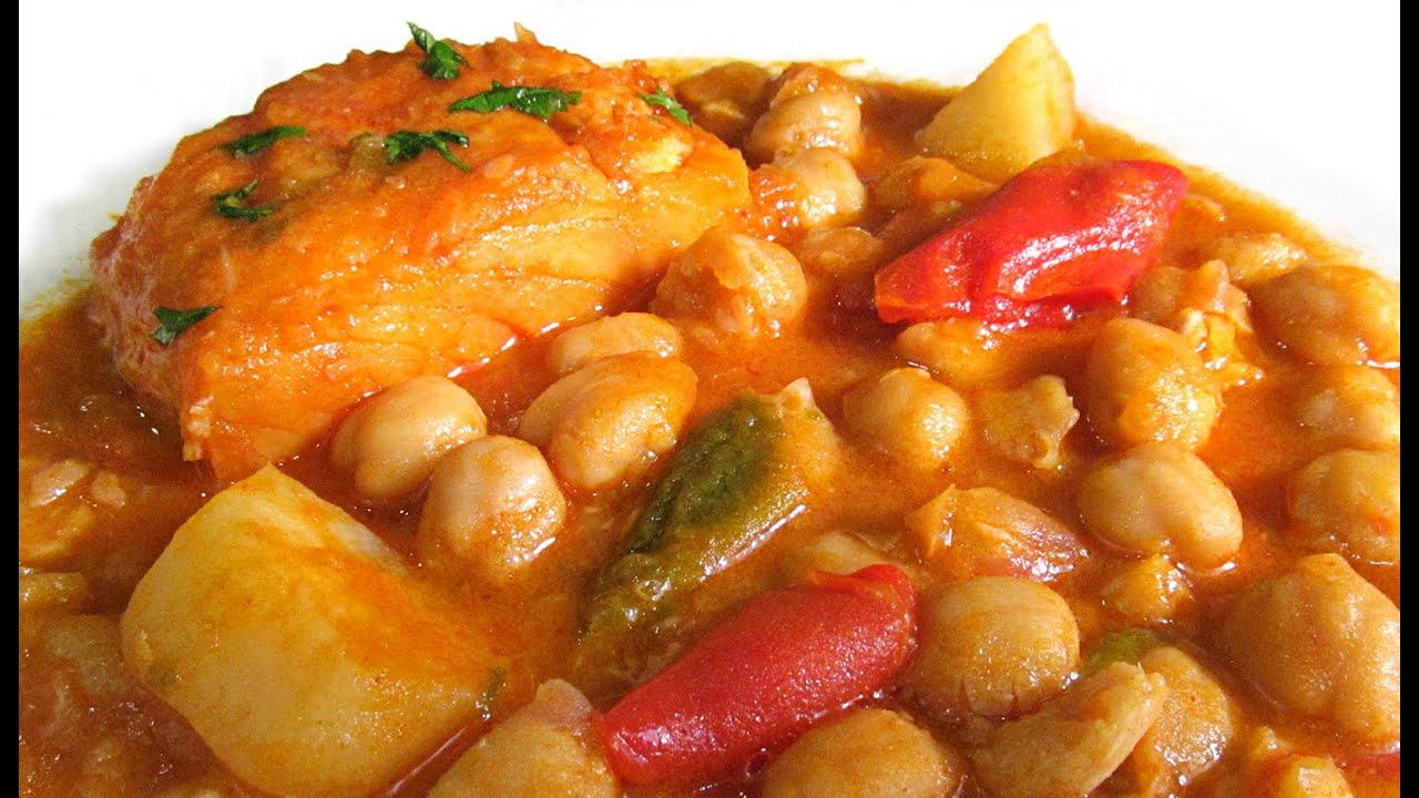 Cocinar Garbanzos Con Bacalao Garbanzos Con Bacalao Youtube