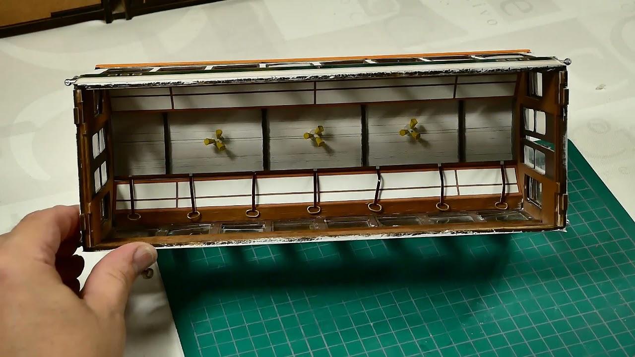 13- Tranvía BUENOS AIRES - Como colocar accesorios del techo. Modelismo Naval - Artesanía