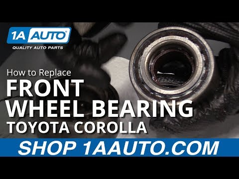 How to Replace Front Wheel Bearing 88-02 Toyota Corolla