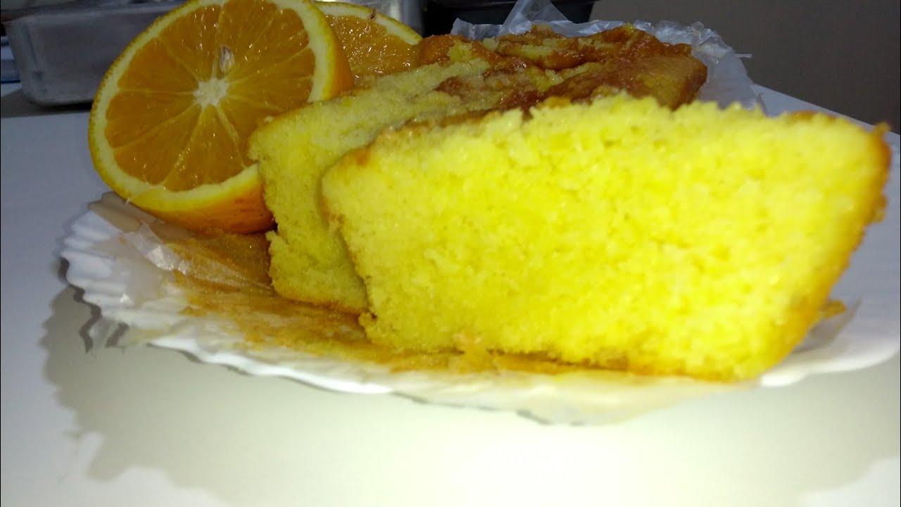 Esse bolo Inglês de laranja molhado e incrível