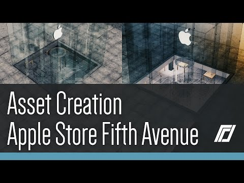 Cities Skylines - Asset Creation - Apple Store (Rotors Shader)