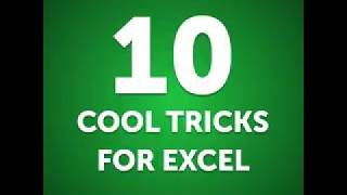10 Cool Tricks For Excel