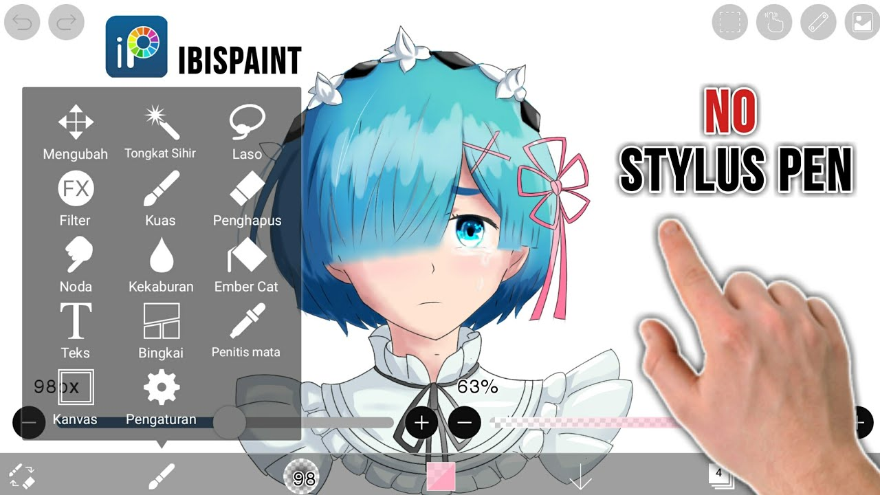 Tutorial IbisPaint Android - [Rem.Re:Zero] - YouTube