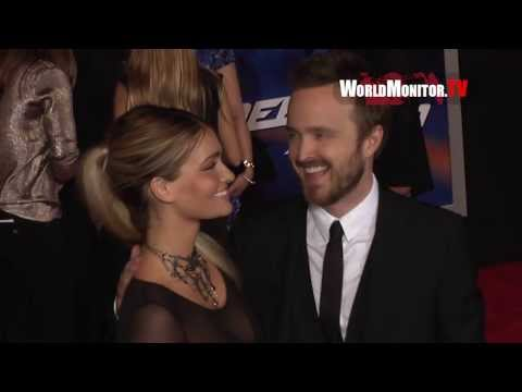 'Need For Speed' LA premiere Redcarpet - Aaron Paul, Imogen Poots, Dominic Cooper