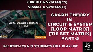GRAPH THEORY|CIRCUIT SYSTEM|BTECH|(PART 3)|LOOP MATRIX