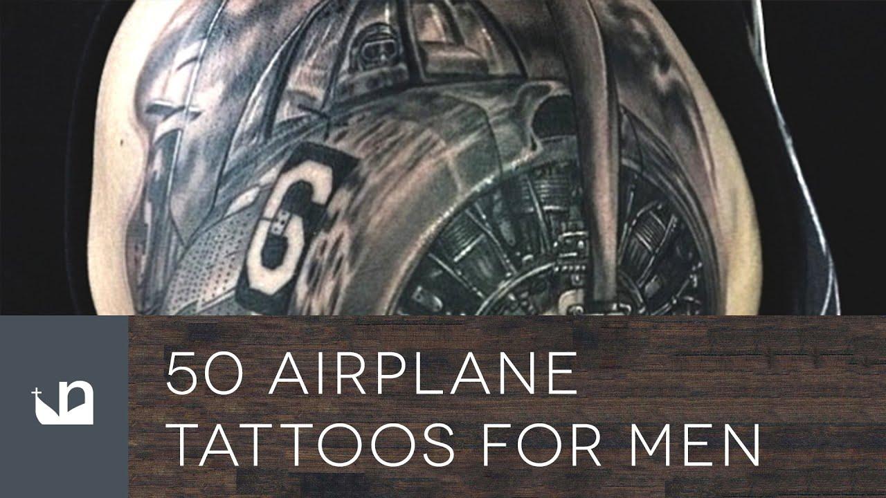 50 airplane tattoos for men youtube. Black Bedroom Furniture Sets. Home Design Ideas