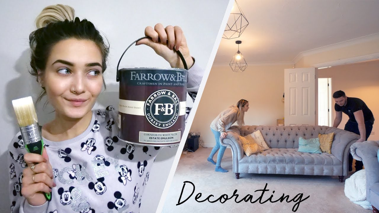 DECORATING OUR NEW HOUSE! MOVING VLOG #4