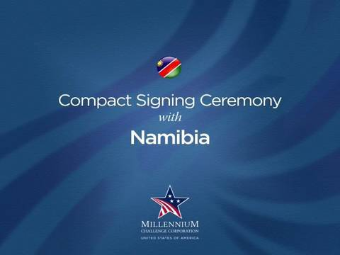 Namibia Compact Signing Ceremony, July 28, 2008