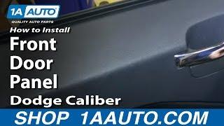 How To Remove Front Door Panel 07-12 Dodge Caliber