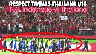 Respect Timnas Thailand U16 Usai Laga Final Indonesia vs Thailand