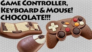 Gaming Controller Chocolate Bar! - Keyboard and Mouse too! - Review - Gaming Gamer Food