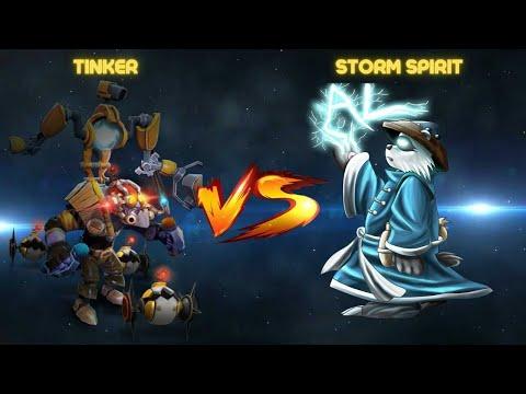 THE ULTIMATE COUNTER TO TINKER - STORM SPIRIT VS TINKER (DOTA 2) |