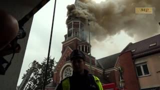Pożar kościoła św Wojciecha w Bialymstoku 2017 Video
