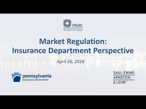 Market Regulation Insurance Department Perspective