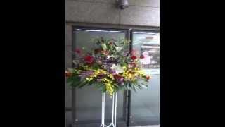 国際フォーラムへ紫吹淳様あてスタンド花を お届けしました。 htttp://w...