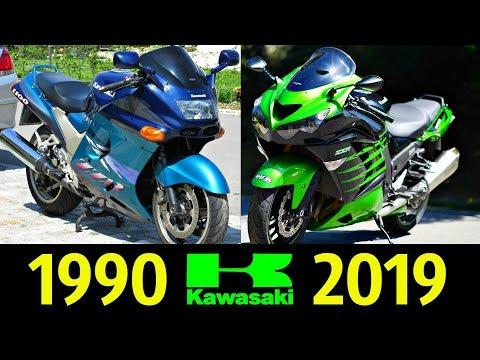 Kawasaki ZZ-R 1400 (ZX-14R) - Эволюция (1990 - 2019) ! История Модели !