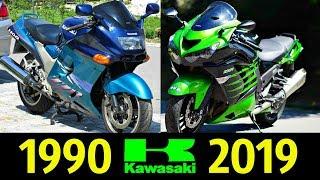 Kawasaki ZZ R 1400 ZX 14R Эволюция 1990 2019 История Модели