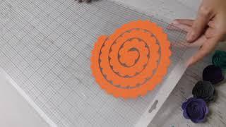 كيفية إنشاء ورقة تدحرجت الزهور - الحرفية التعليمي