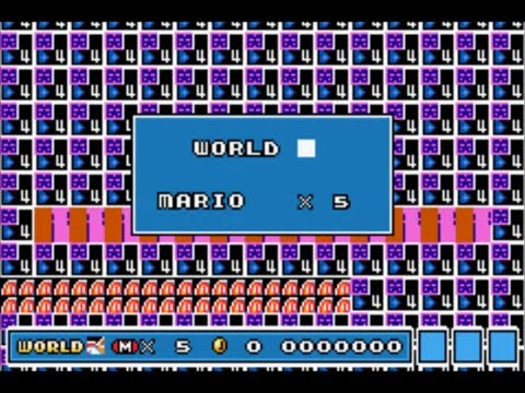 Mario 3 World Map.Super Mario Advance 4 Super Mario Bros 3 World Maps Past World 8