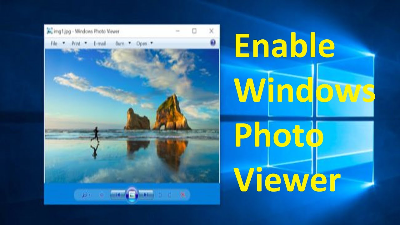 Enable Windows Photo Viewer in Windows 10!! - Howtosolveit ...