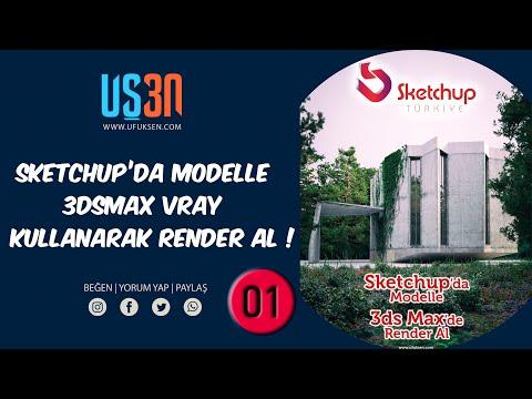 Sketchup Model 3dsmax Vray Render Eğitim Seti 01