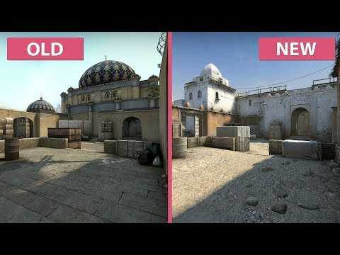 CS:GO – Dust 2 Old vs  New Graphics Comparison with Frame