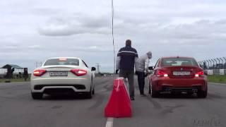 Maserati Gran Turismo VS BMW M First Series! Drag-Racing(Наклейки на номера против камер ГИБДД! Купить: http://betelit.com/dankosrst/FuckThePolice/ Как можно зарабатывать на подобных..., 2012-08-12T20:00:33.000Z)