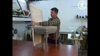 Шьем чехол на старый стул(Обновить стул с обтрепавшейся обивкой и краской, облезлой на ножках, можно, нарядив этот предмет интерьера..., 2013-10-30T08:59:34.000Z)