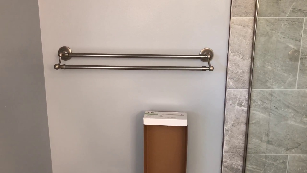 Moen Sage 24 Inch Bathroom Double Towel Bar And Toilet Paper Holder In Brushed  Nickel Review.