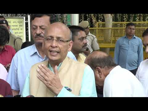 Abhishek Manu Singhvi addresses media after meeting with EC