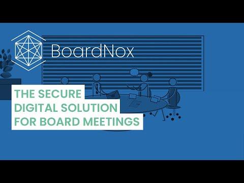 BoardNox - The secure digital solution for board meetings