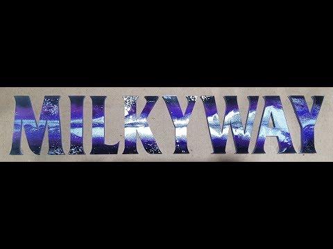 (MILKYWAY) Epoxy resin art, letter art - 에폭시 레진 스카시