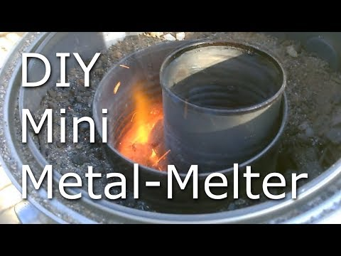 "Micro DIY Foundry - Charcoal Fired ""Fan Forced"" 5-Can ""Furnace"" 1800+F -Melts Aluminum! (cooks too!)"