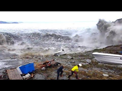 GREENLAND TSUNAMI: Fishermen Run For Their Lives - Camera 3