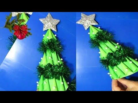 КРАСИВАЯ ЁЛОЧКА из цветной бумаги своими руками.Простые Поделки своими руками на Новый год
