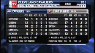 Cleveland Cavaliers Vs Portland Trail Blazers, 3-17-11