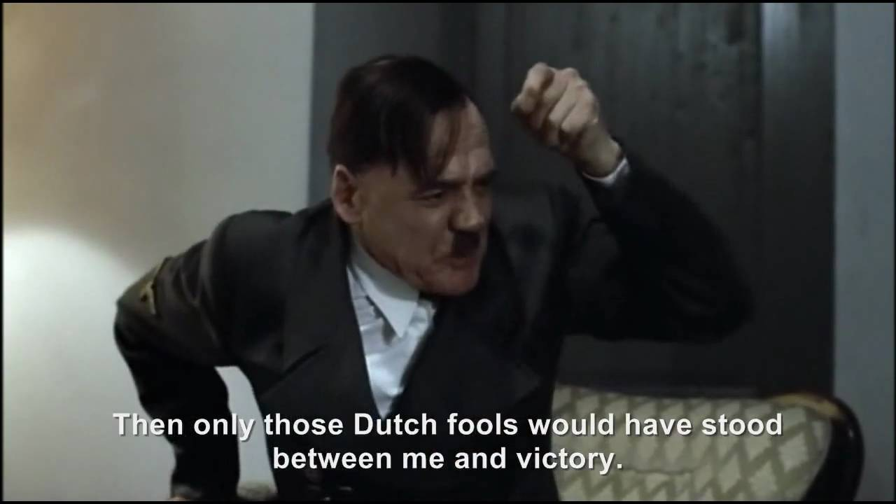 Hitler rants about Germany's 1-0 defeat against Spain
