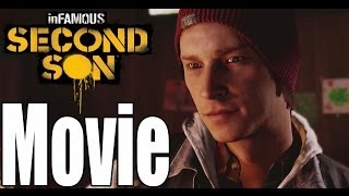 Infamous Second Son - All Cutscenes w/Boss Fights (Game Movie)