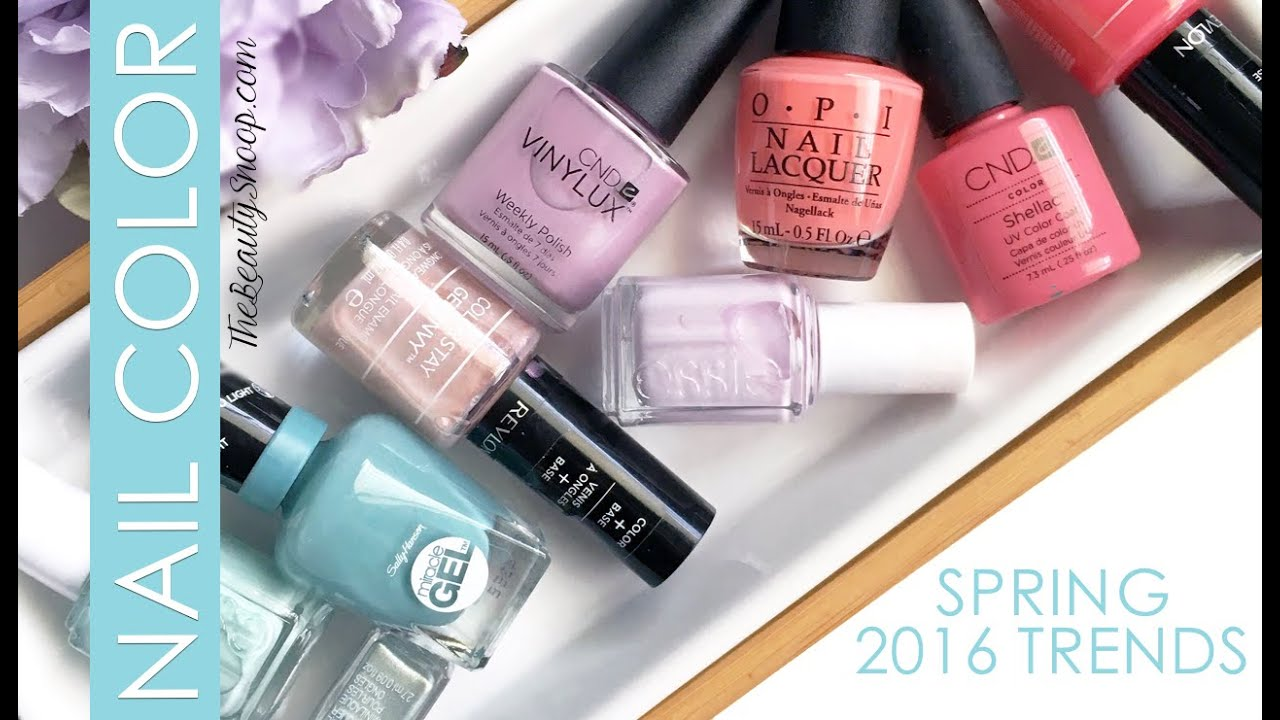 The Hottest Nail Colors for Spring - YouTube