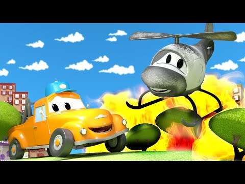 Hector the Helicopter save the day ! - Tom the Tow Truck's Car Wash | Cars cartoons for kids