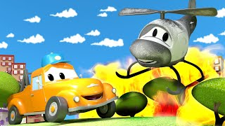 Hector the Helicopter save the day ! - Tom the Tow Truck's Car Wash   Cars cartoons for kids