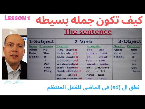 كيف تكون جمله فى اللغه الانجليزيه للمبتدئين .الدرس الأول. How to form a sentence for beginners