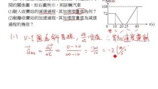 基礎物理(二A) Ch01 直線運動 習題演練