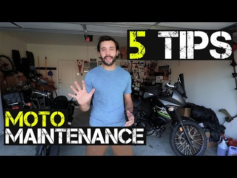 Daily Motorcycle Maintenance - Pre-Check- 5 Steps before you Ride