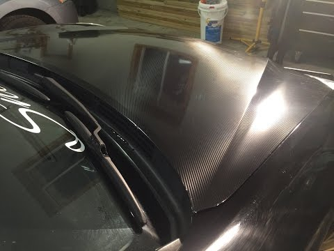 How To Vinyl Wrap a Hood (Carbon Fiber)