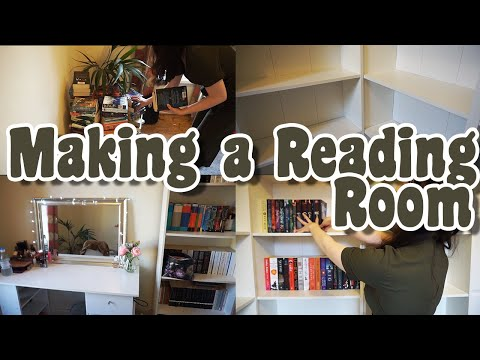 Making A Reading Room: A Vlog (Home Library 2.0)