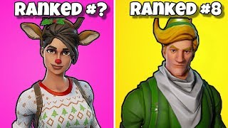 RANKING ALL CHRISTMAS SKINS FROM WORST TO BEST! Fortnite Battle Royale - Classement des tenues de Noel