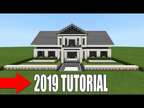 "Minecraft Tutorial: How To Make The Ultimate Suburban Mansion ""2019 Tutorial"""