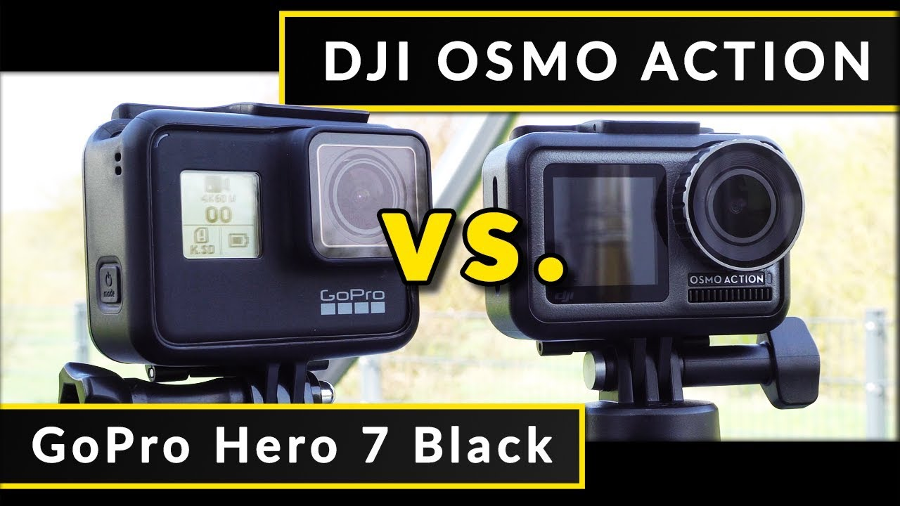 Comparison: DJI Osmo Action vs  GoPro Hero 7 Black - Footage & Test