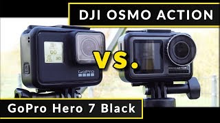 Comparison: DJI Osmo Action vs. GoPro Hero 7 Black - Footage & Test